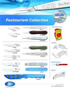Postmortem surgical blades